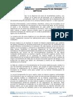 Manual de Operacion y Mantenimiento Del Sistema de Tratamiento y de Disposicion Final - Hyg Asociados
