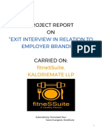 Exit Interview in Relation to Employer Branding.docx