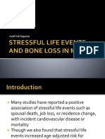 Stressful Life Events and Bone Loss in Men