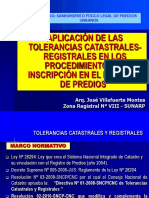 Tolerancias Catastrales y Registrales ZRVIII