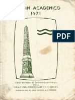 Boletin Academico 1971, Unint
