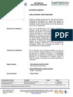Informe Final de Auditoria Proceso Recursos Humanos