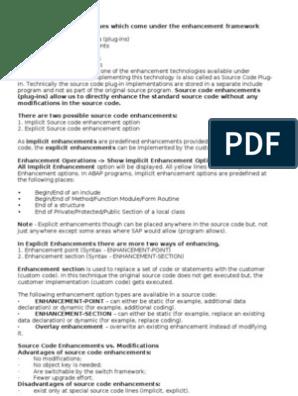 Enhancement - Implicit and Explicit | Class (Computer