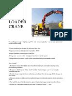 Loader Crane