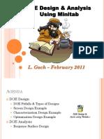 5) DOE Design and Analysis Using Minitab (1)