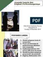 Posyandu Lansia & Format Tingkat Perkembangannya