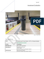 Metrolinx's economic benefits case analysis comparing the LRT to the subway (2013)