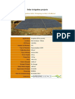 Solar Irrigation Projects Sample