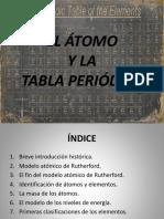 El átomo y la tabla periódica.