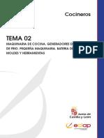 Cocineros TEMA 02 MAQUINARIA DE COCINA. GENERADORES DE CALOR Y DE FRIO. PEQUEÑA MAQUINARIA. BATERIA DE COCINA, MOLDES Y HERRAMIENTAS.pdf