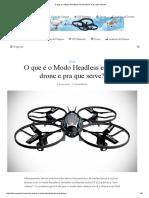 O Que é o Modo Headless Em Um Drone e Pra Que Serve