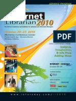 Internet Librarian 2010 Advanced Program