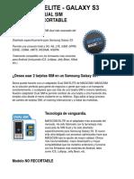Magicsim Elite - Adaptador Dual Sim Para Galaxy s3 – Magicsim