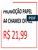 Promoção Papel a4 Chamex Office