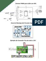 Circuito Dimmer PWM Para LEDs Con 555