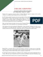 Historia Del Taekwondo en El Mundo