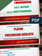Platon Idealiste Précursseur