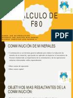 Calculo Del f80 Expo