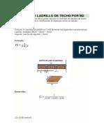 Calculo de Ladrillo de Techo Por m2