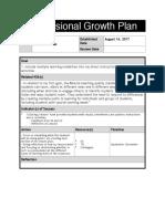 professional growth plan pdf - brandon clowes