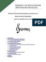 Catene Di Markov Unapplicazione Alla Composizione Musicale