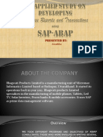 internship ppt on SAP-ABAP