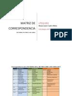 Correspondencia Entre ISO 50001