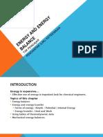 Energy Balance Untuk Teknik Kimia