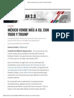 México Vende Más a EU, Con Todo y Trump