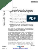 NP Camaras de Vigilancia DGT Uso Del Cinturon