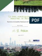 LE PARC AGROÉCOLOGIQUE INDUSTRIEL DE XIEDAO. Tourisme et circularité, financeurs de l'agriculture.