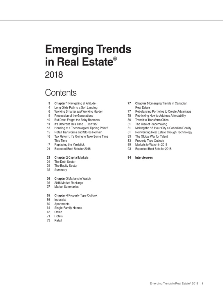 Emerging Trends 2018 | Business Cycle | Class U0026 Inequality