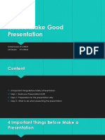 How to Make Good Presentation