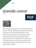 Scientific Control