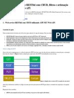 Web Service RESTful Com CRUD, Filtros e Ordenação Usando ASP.net Web API