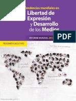 Unesco Tendencias Mundiales en Libertad de Expresión