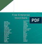 Free Enterprise Word Bank