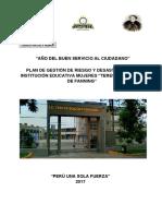 Plan de Gestionde Riesgos Teresa Gonzales f. Actualizado Setiembre 2017