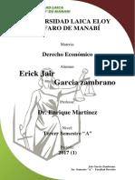 Caracteristicas de Derecho Economico.