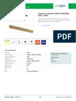 Lámpara colgante WOOD SUSPEND, 20W, CRI95.pdf