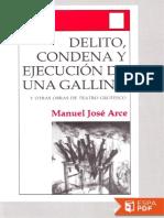Delito, Condena y Ejecucion de - Manuel Jose Arce