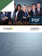 2016 Lazaridis MBA Brochure