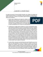 Declaración Consejo de Pueblos Atacameños por Consulta Indígena para nueva Constitución
