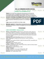 Programa Semana de la Comunicación - UCAB