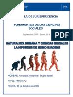 Ensayo-naturaleza Humana y Ciencias Sociales La Hipótesis de Homo Suadens