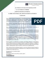 RO# 072-S - A Sujetos Pasivos Del IVA e Impsto Renta, Presenten de Manera Semestral Declaraciones de IVA y RFte (5 Sep. 2017)