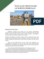 Pengertian Alat Ukur Tanah Dan Alat Survey Pemetaan