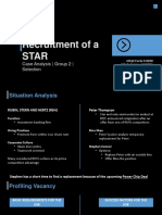 Selection Group 2 Recruitment of a Star