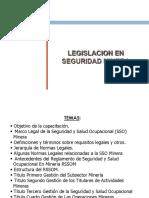 LEGISLACION EN SEGURIDAD MINERA 2017I PPT.pdf