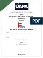 Fundamentación Curricular.